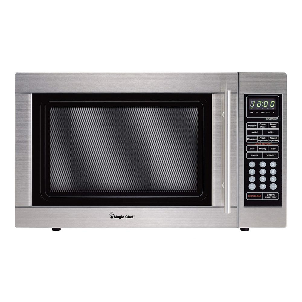 Magic Chef 1.3 cu. ft. Countertop Microwave in Stainless Steel