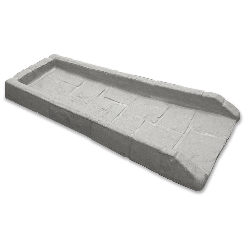 Vigoro 21-1/2 in. Poly Grayish-Beige Splash Block