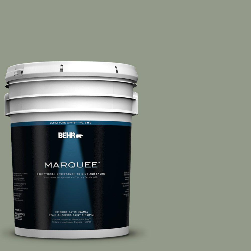 BEHR MARQUEE 5-gal. #430F-4 False Cypress Satin Enamel Exterior Paint