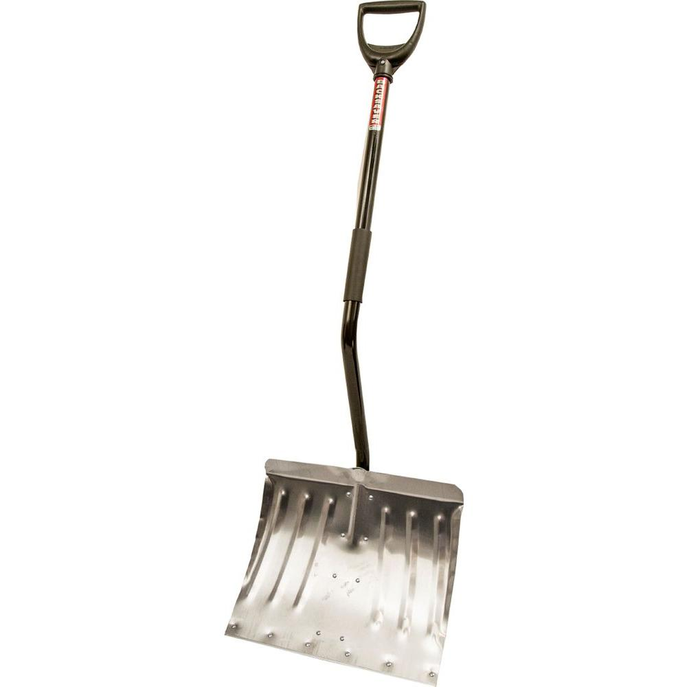 Ergonomic Steel Handle and Aluminum Combo Blade Snow Shovel