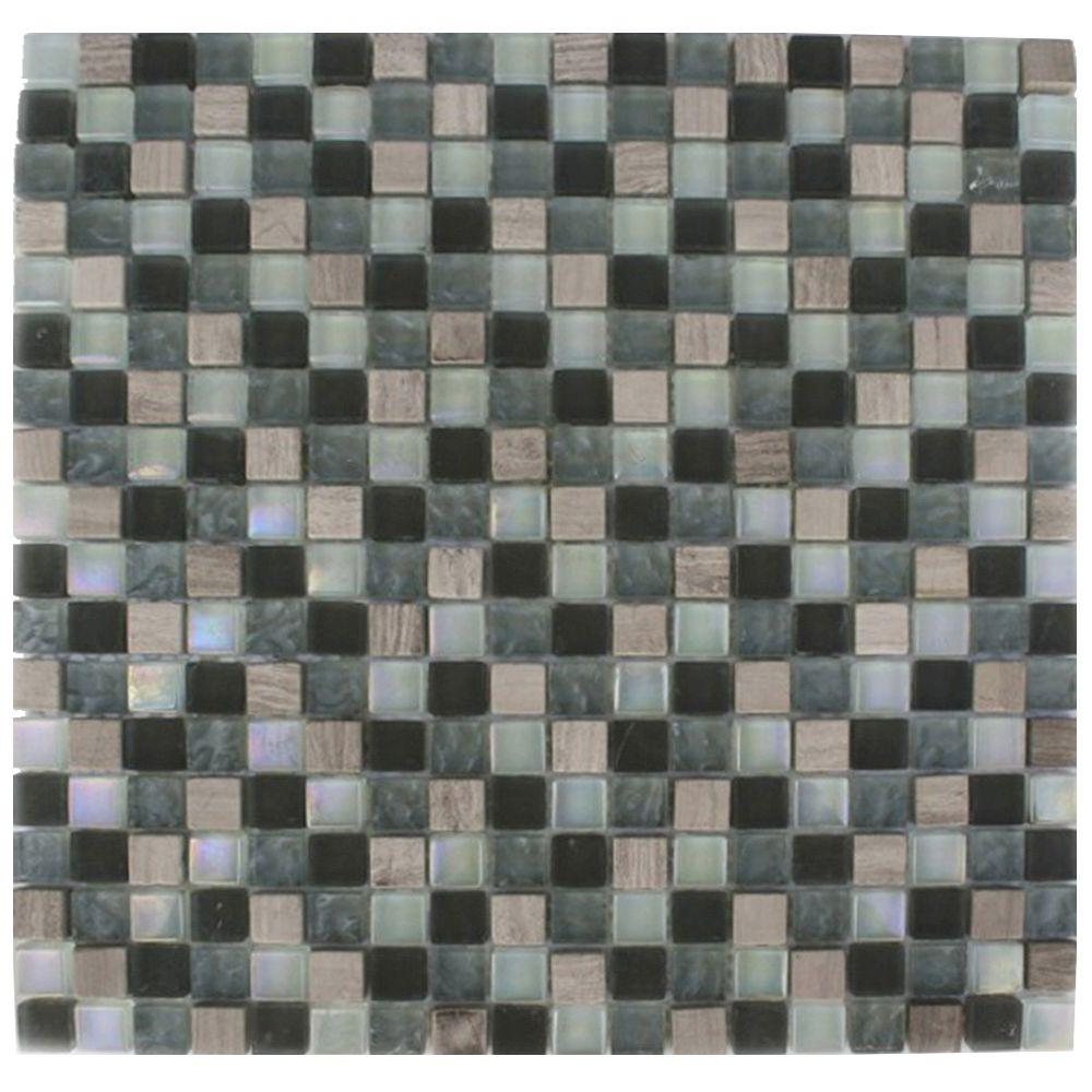 Splashback Tile Galaxy Blend Squares 12 In X 12 In X 8 Mm Marble