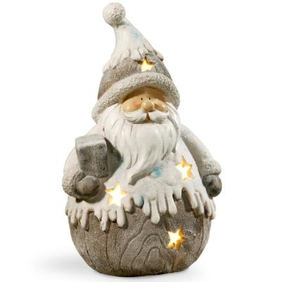 18 in. Lighted Santa Decor Piece