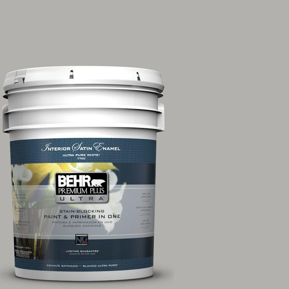 5-gal. #BXC-25 Colonnade Gray Satin Enamel Interior Paint