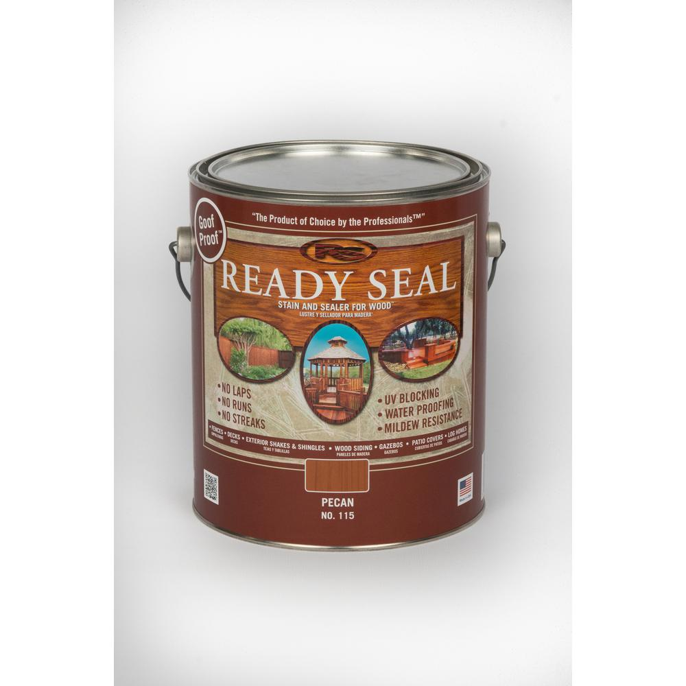 Ready seal 1 gal pecan exterior wood stain and sealer 115 the home depot - Exterior sealant paint decor ...