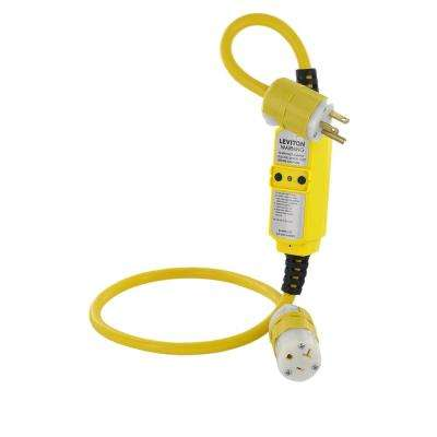 20 Amp Straight Blade Portable GFCI with 3 ft. Cord Set Black and White NEMA Plug (5-20P) and Connector (5-20R), Yellow