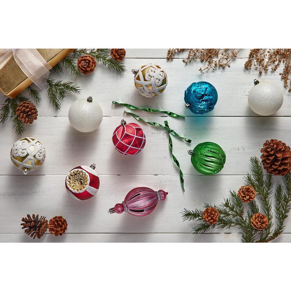 Fantasleigh 80 mm Shatterproof Ornament (60-Pack)