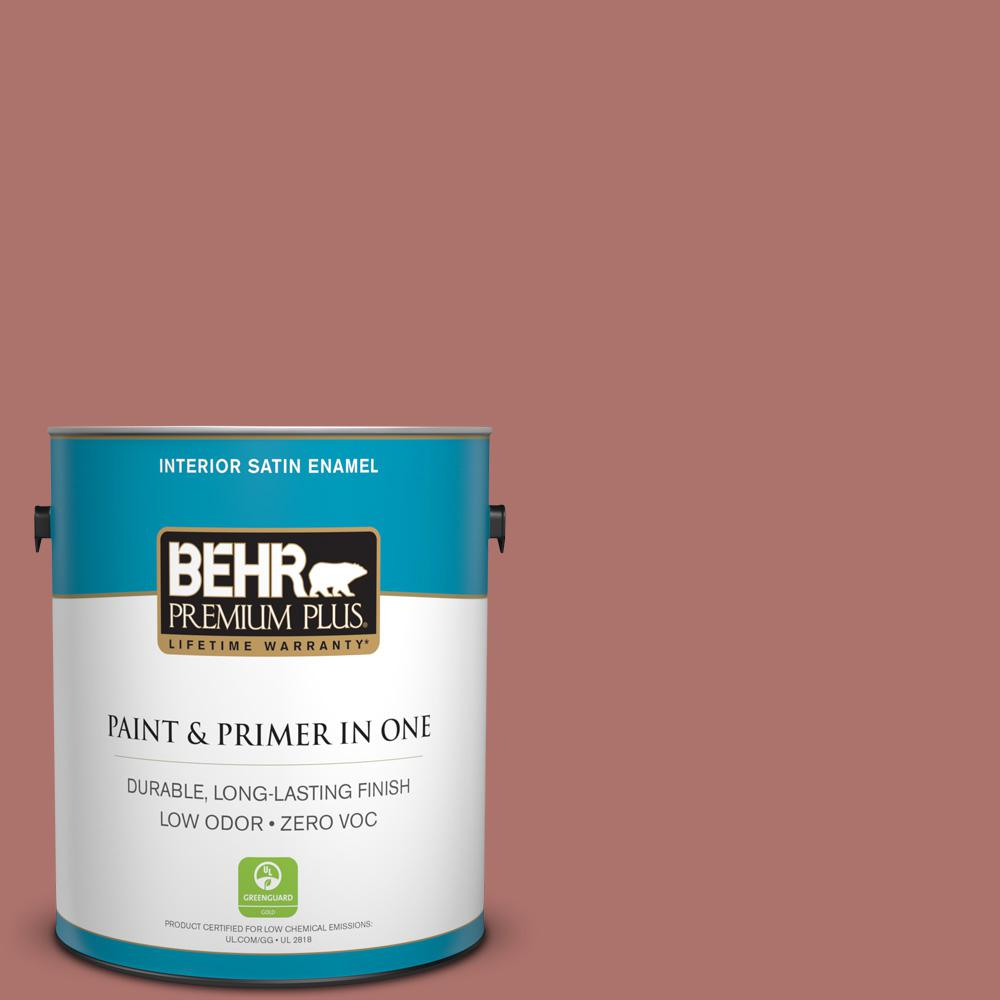 BEHR Premium Plus 1-gal. #S160-5 Hot Chili Satin Enamel Interior Paint