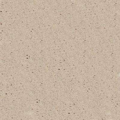 4 in. x 4 in. Natural Quartz Vanity Top Sample in Oyster Pearl