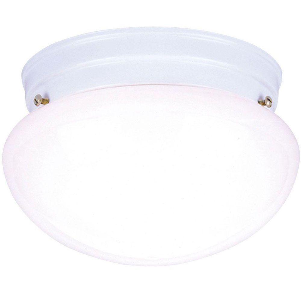 Westinghouse 1-Light White Interior Ceiling Flushmount with White ...