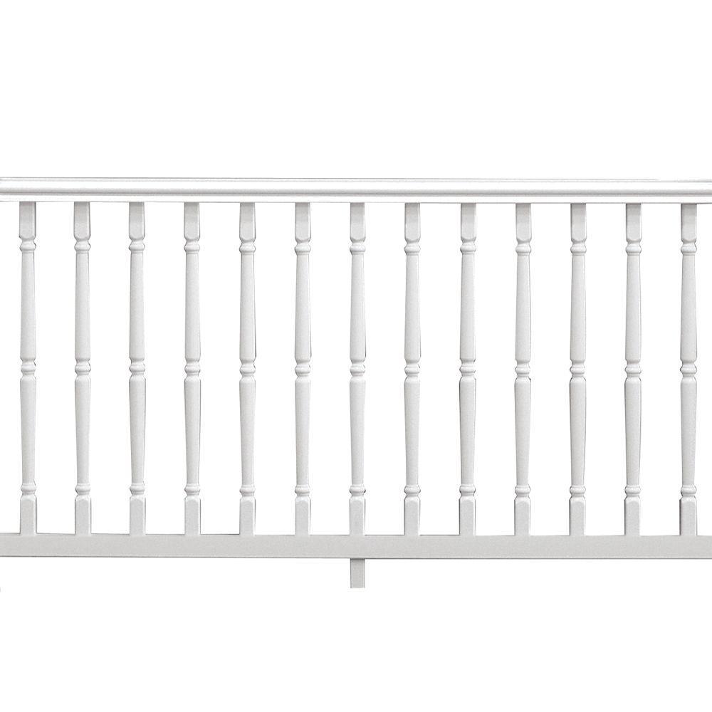 Veranda williamsburg 6 ft x 36 in white pre built for Pre built porch