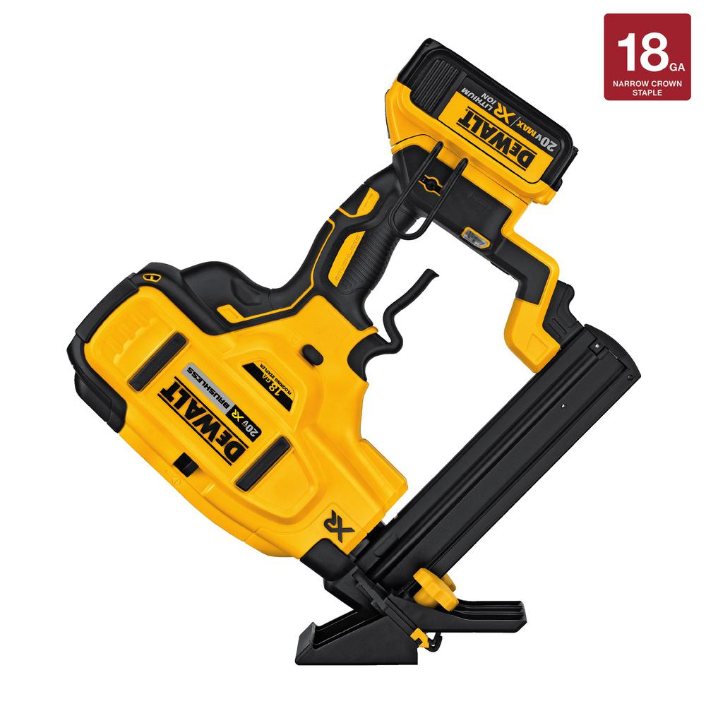 DEWALT 20-Volt MAX XR Lithium-Ion Cordless 18-Gauge Flooring Stapler ...