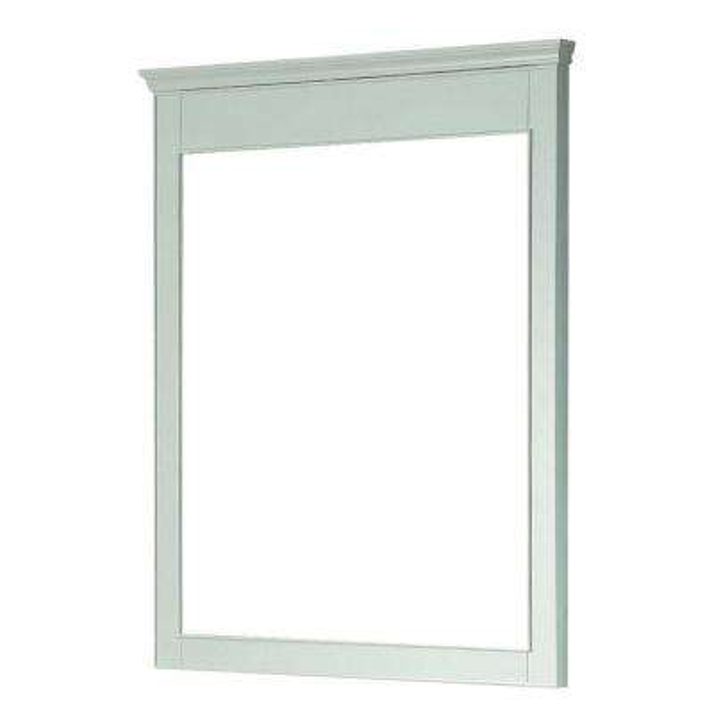 Windsor 38 in. L x 34 in. W Wall Mirror in White