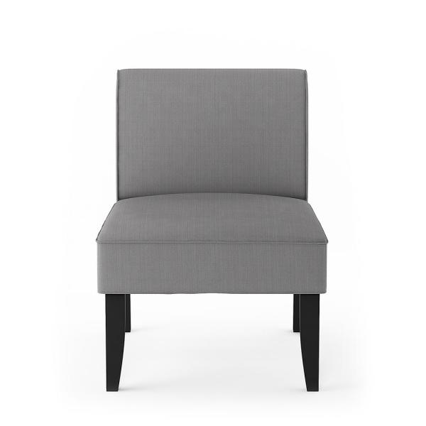Furinno Belfort Grey Polyester Modern Accent Chair (Set of 2) FC18700DGY