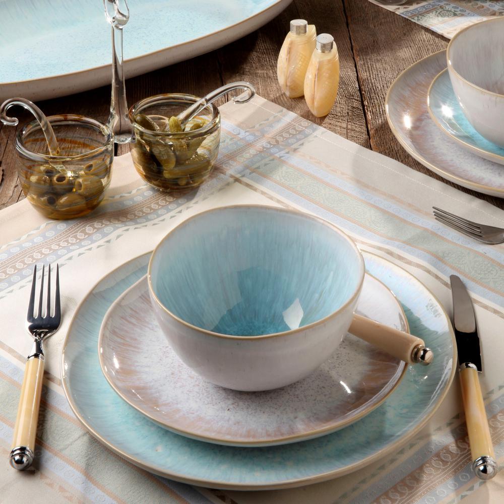 Ibiza 16 fl. oz. Sea Ceramic Stoneware Cereal Bowl (Set of 6)