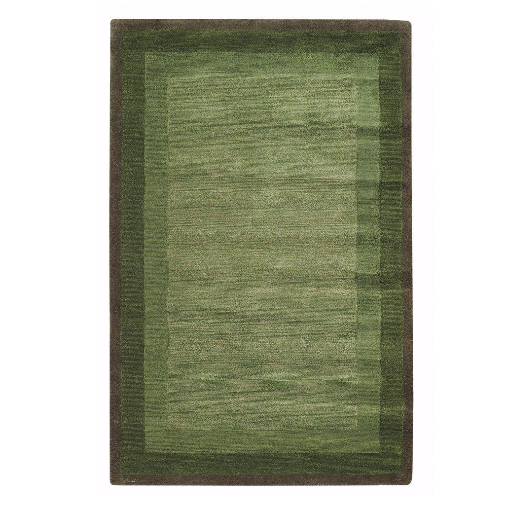 Home Decorators Collection Karolus Green 9 ft. 6 in. x 13 ft. 9 in. Area Rug