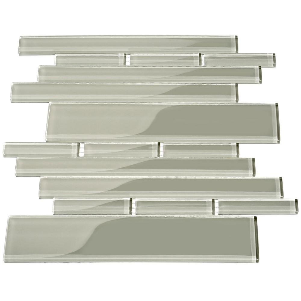 - Giorbello Light Gray Rectangular Brick 9.5 In. X 10.5 In. X 8mm
