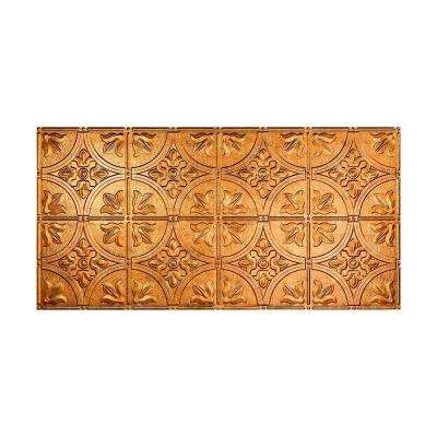 Traditional 2 - 2 ft. x 4 ft. Glue-up Ceiling Tile in Muted Gold