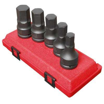 3/4 in. Drive SAE Hex Impact Driver Set (5-Piece)