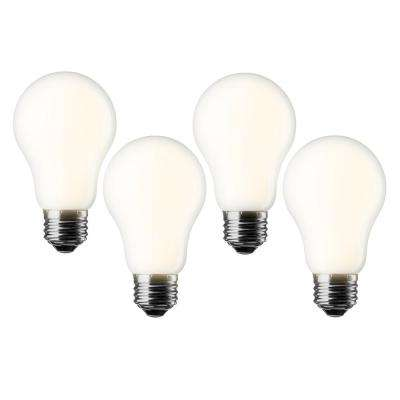 60W Equivalent Soft White A19 Dimmable LED Light Bulb (4-Pack)