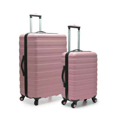 Cypress Colorful 2-Piece Pink Small and Large Hardside Spinner Luggage Set