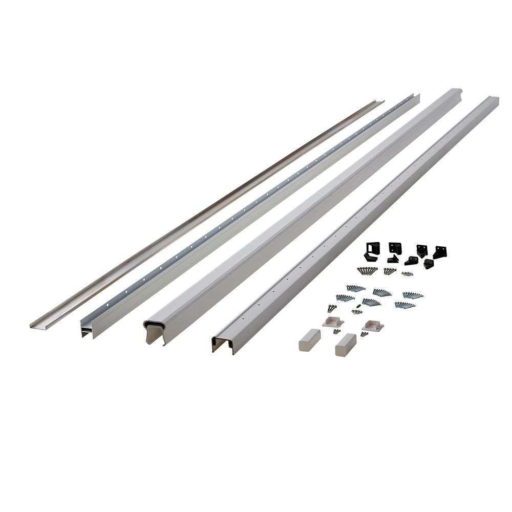 Symmetry 12 ft. Tranquil White Capped Composite Line/Stair Rail Kit