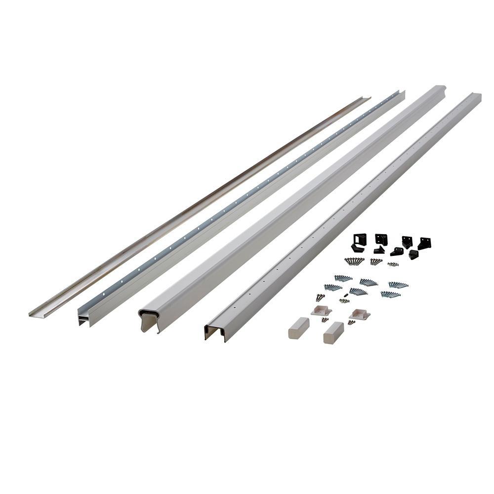 Symmetry 12 ft. Tranquil White Capped Composite Line/Stair Rail Kit
