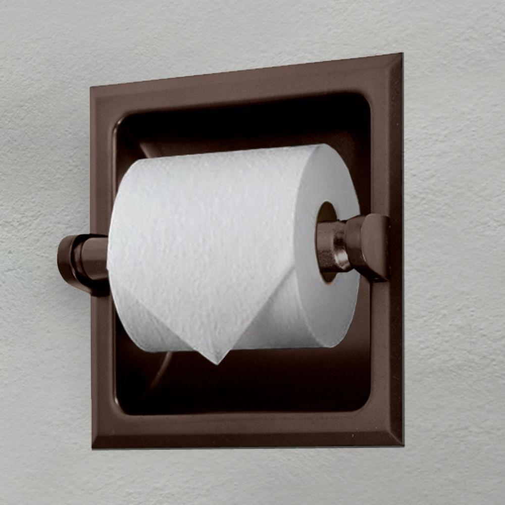 Gatco Recessed Toilet Paper Holder In Bronze