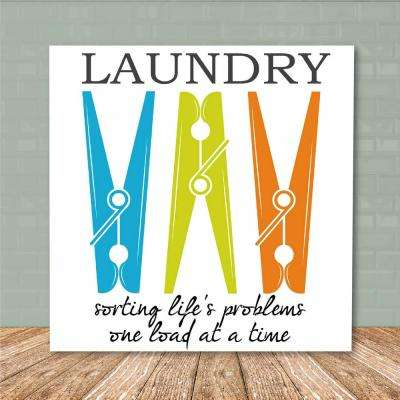 "16 in. x 16 in. ""Laundry Room III"" Canvas Printed Wall Art"