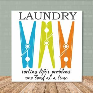 16 in. x 16 in. ''Laundry Room III'' Canvas Printed Wall Art