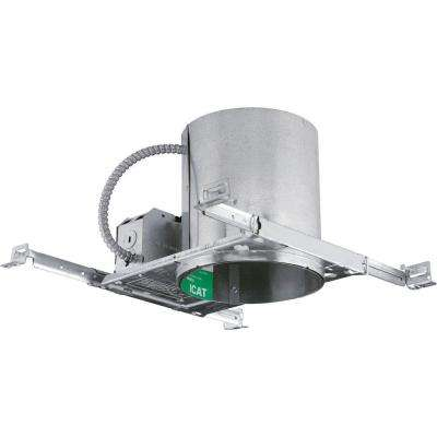 6 in. Metallic New Construction Recessed Housing, Air-Tight, IC and Non-IC with Wiring Quick Connects