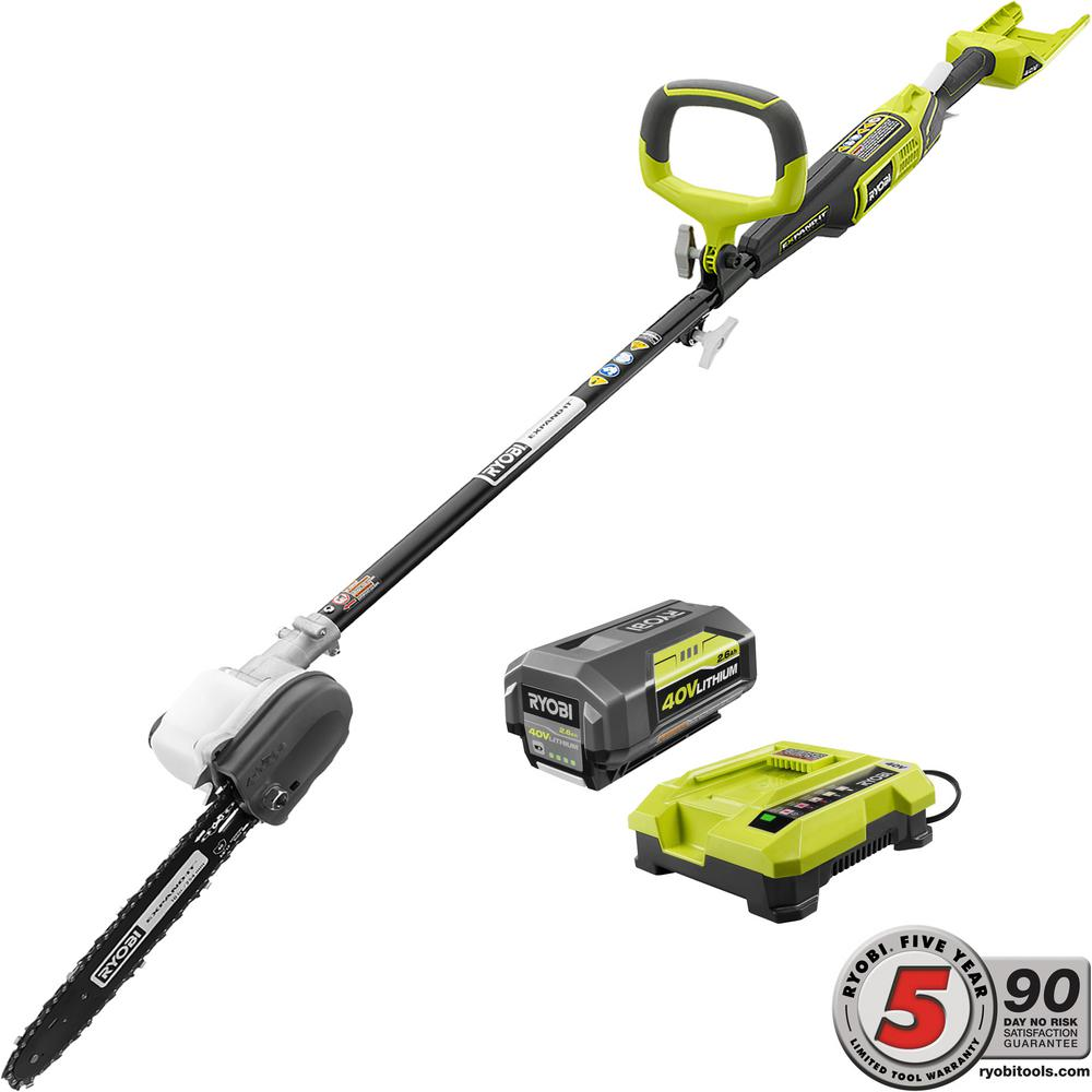 Ryobi 40-Volt X Lithium-Ion Cordless Attachment Capable 1...