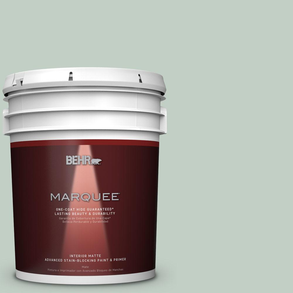 behr marquee 5 gal ppu11 13 frosted jade matte interior paint and