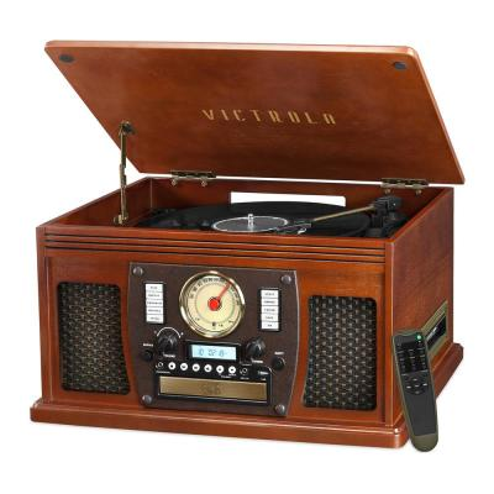 D Cassette Bluetooth FM Radio /& USB//SD Trexonic 3-Speed Turntable CD Player