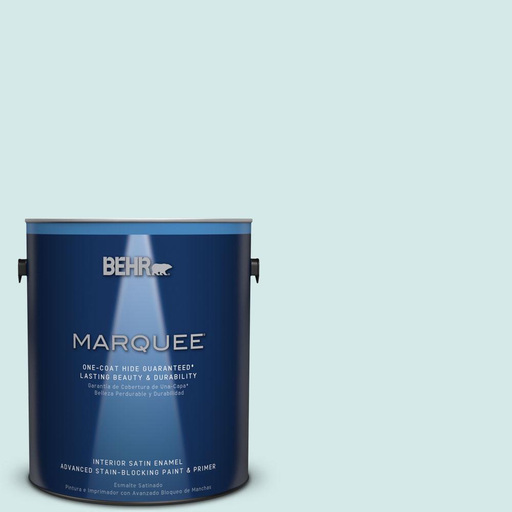 1 gal. #T14-5 Sky Blue Satin Enamel Interior Paint