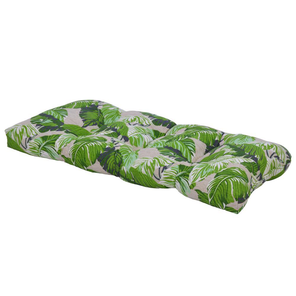 Fern Tropical Rectangular Outdoor Bench Cushion-7426-01209400 - The ...