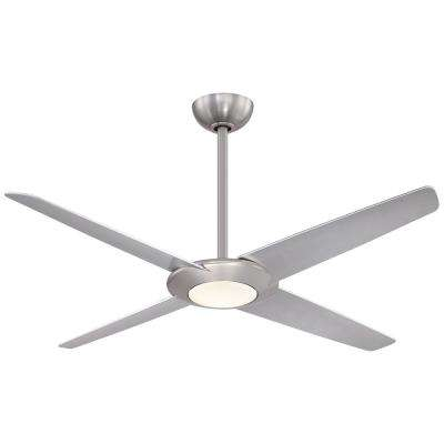 Pancake XL 62 in. Integrated LED Indoor Brushed Nickel Ceiling Fan with Light with Remote Control