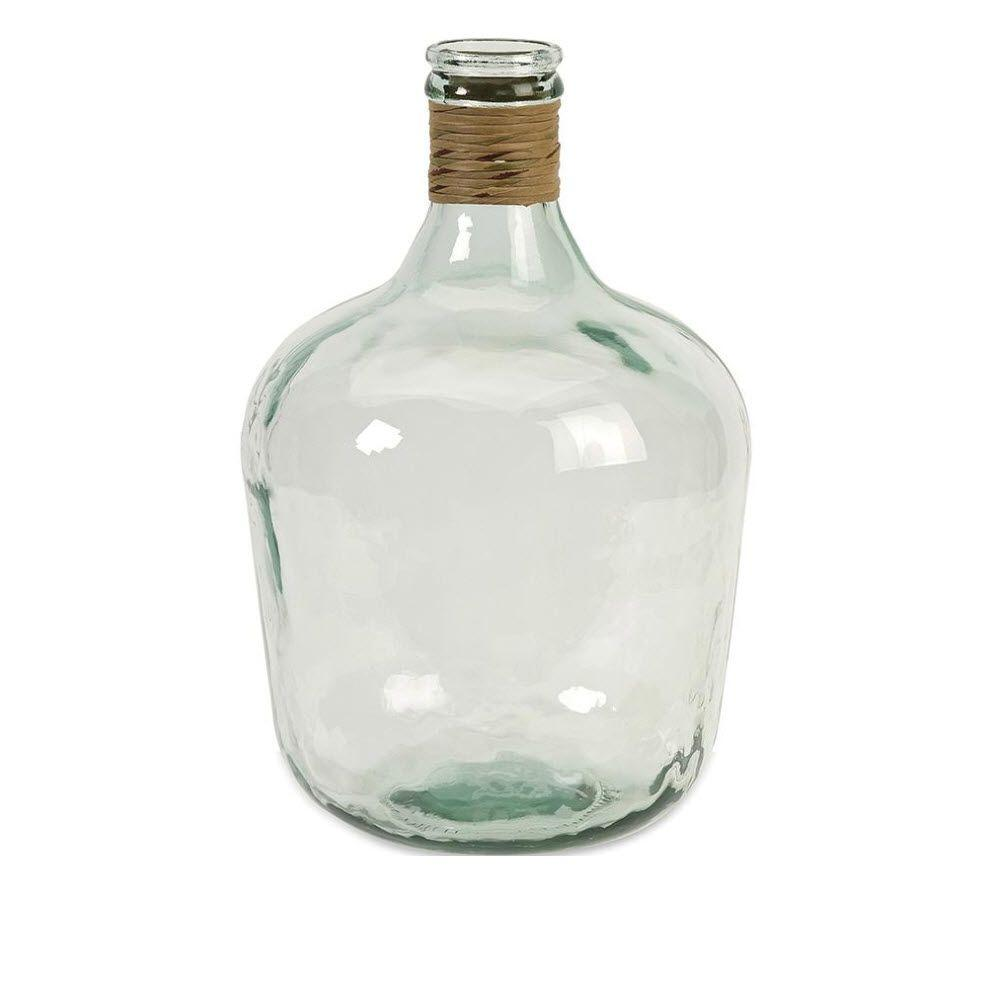 Home Decorators Collection Boccioni 16.5 in. H Light Blue Recycled Glass Jug