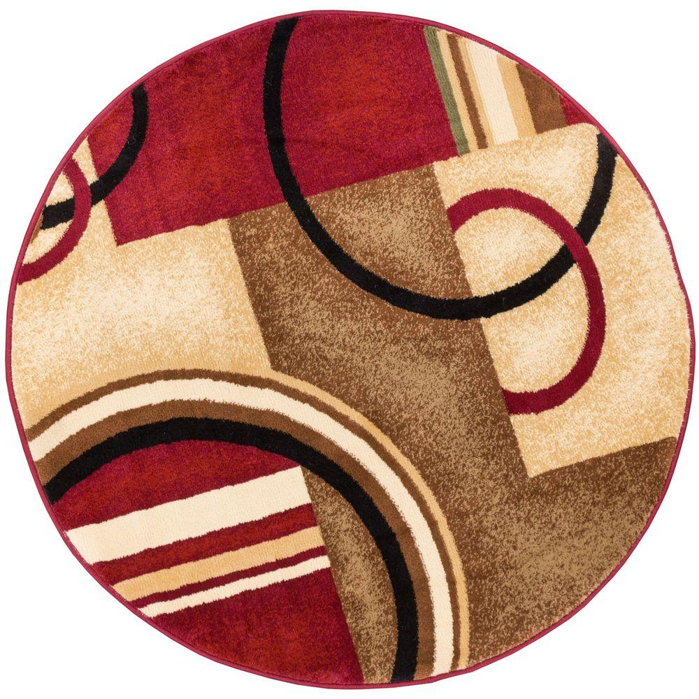 Well Woven Dulcet Paramount Red 8 Ft X 10 Ft Modern Area Rug 17687