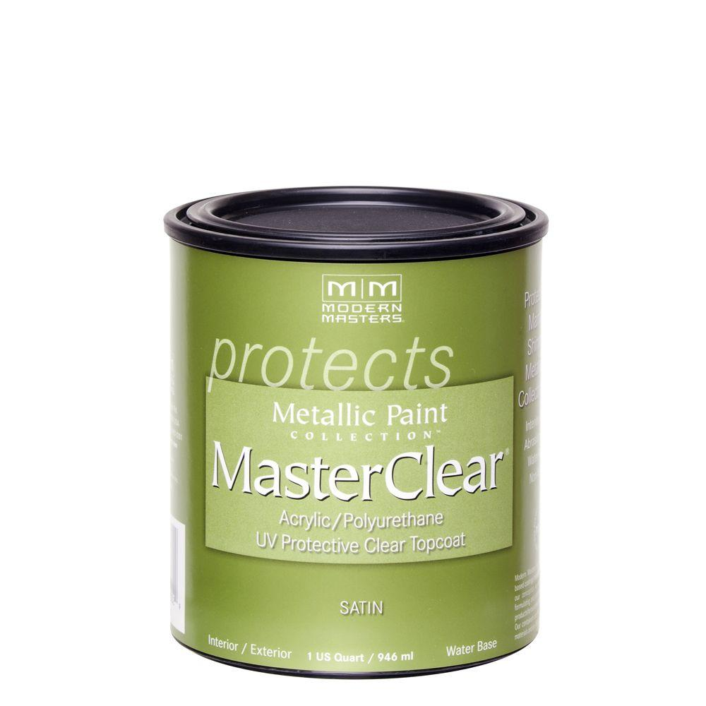 Top Coat Paint >> Modern Masters Masterclear 1 Qt Satin Clear Water Based Interior Exterior Protective Topcoat