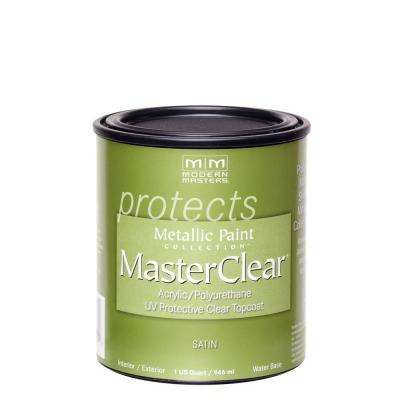 MasterClear 1 qt. Satin Clear Water-Based Interior/Exterior Protective Topcoat