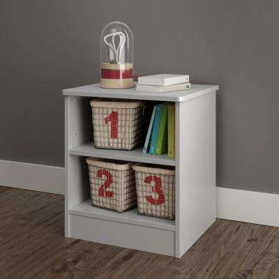 Libra Soft Gray Nightstand