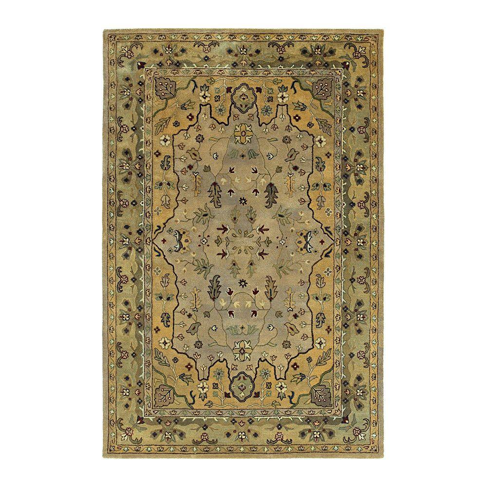 Kaleen Presidential Picks Wormsloe Cream 8 ft. x 10 ft. Area Rug-DISCONTINUED