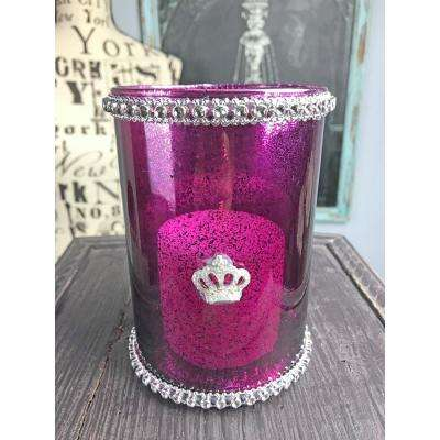 Fit for a Queen Purple Candle Holder