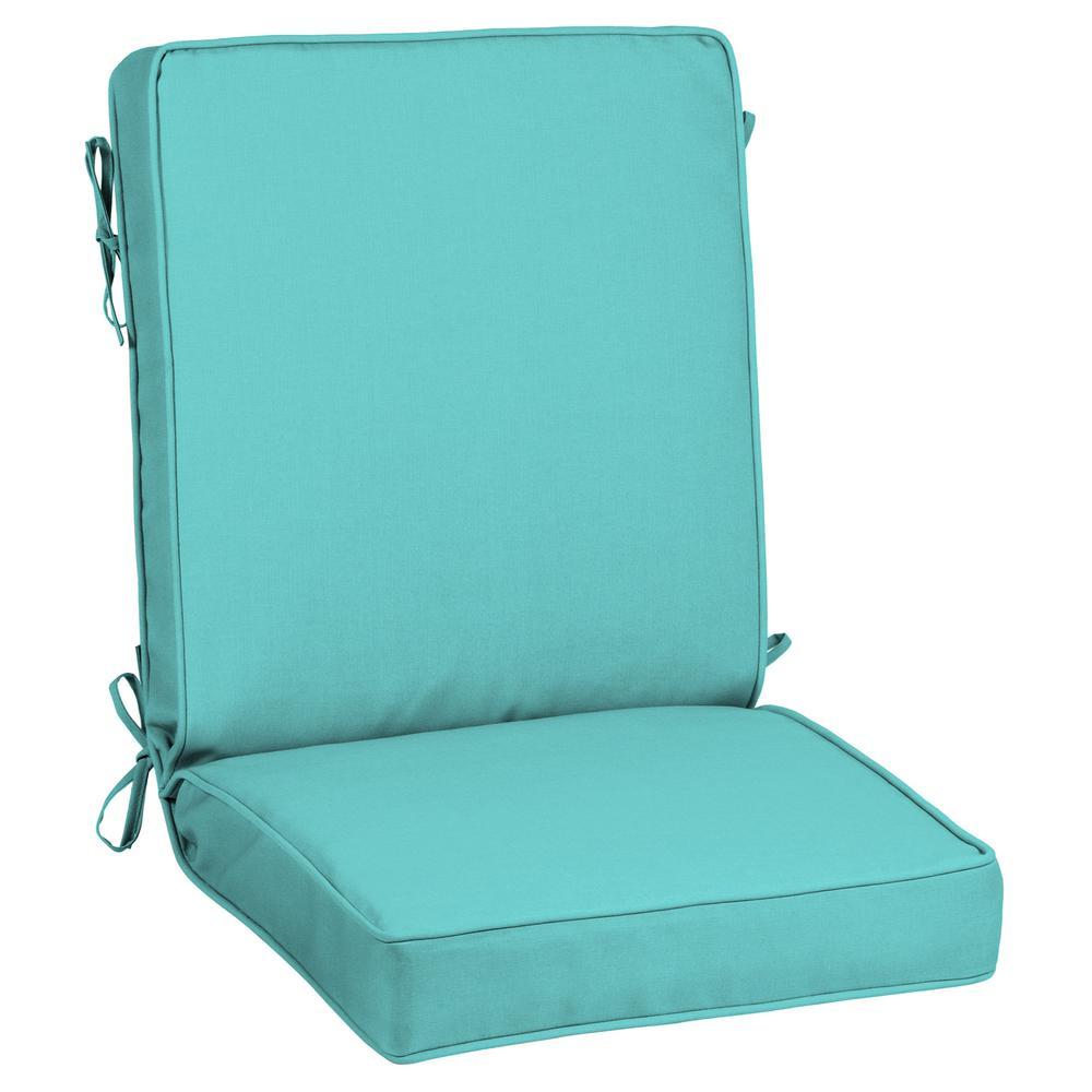 21 x 44 Sunbrella Canvas Aruba Outdoor Dining Chair Cushion