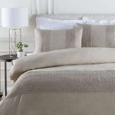 Johanna Light Gray Full/Queen Duvet Set