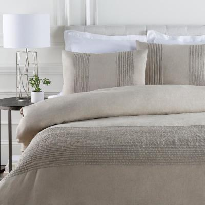 Johanna Light Gray King/CA King Duvet Set