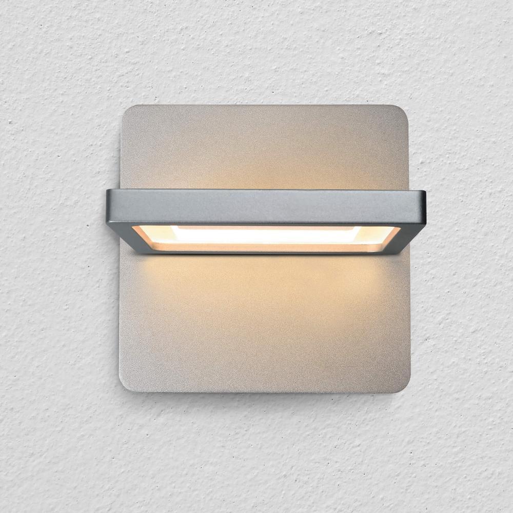 Atria 10-Watt Silver Integrated LED Sconce