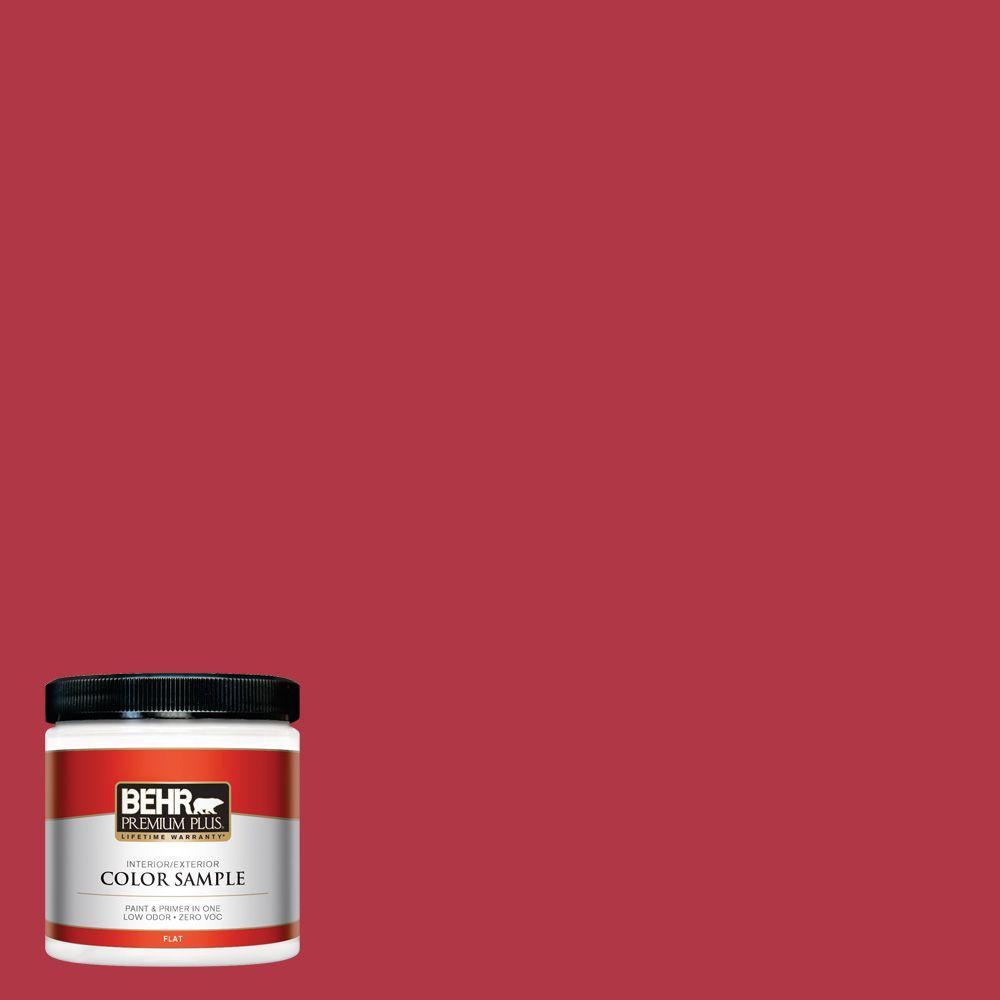 BEHR Premium Plus 8 oz. #140B-7 Frosted Pomegranate Interior/Exterior Paint Sample