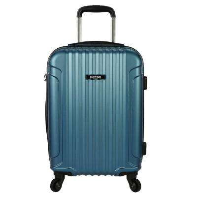 Akron 21 in. Hardside Spinner Luggage Suitcase, Teal