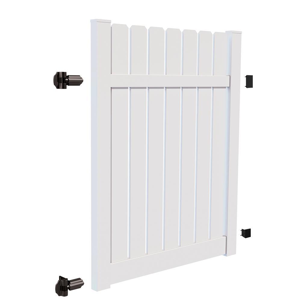 White Vinyl Drive Fence Gate Kit
